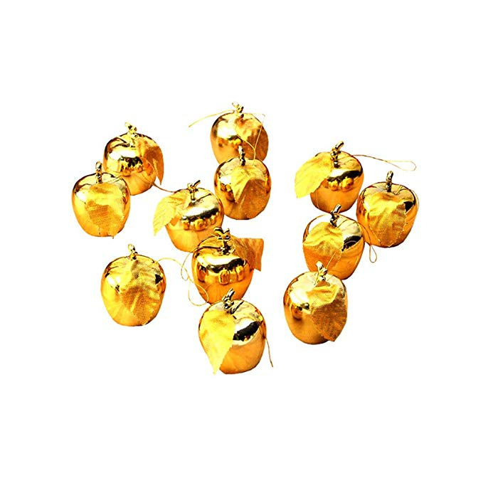 Gold Apple Ornaments