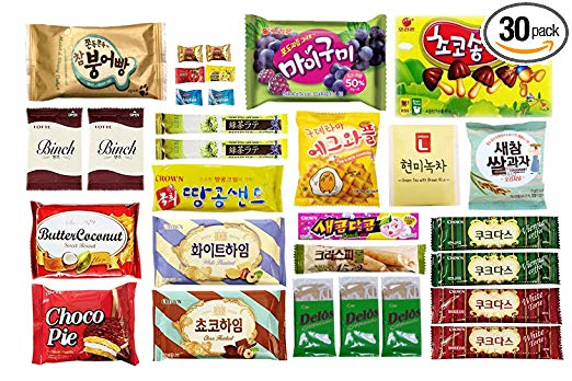 Korean candy and snacks
