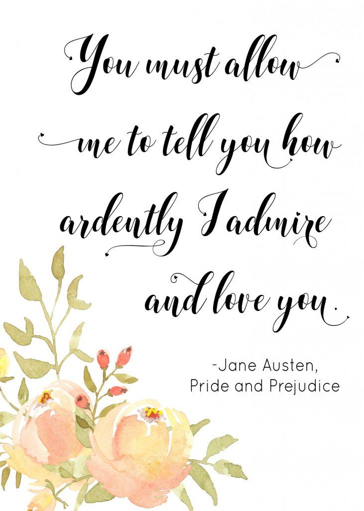 Pride and Prejudice Quote Printable